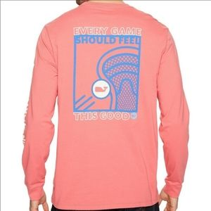 Vineyard Vines Men's Long Sleeve Lacrosse Tee